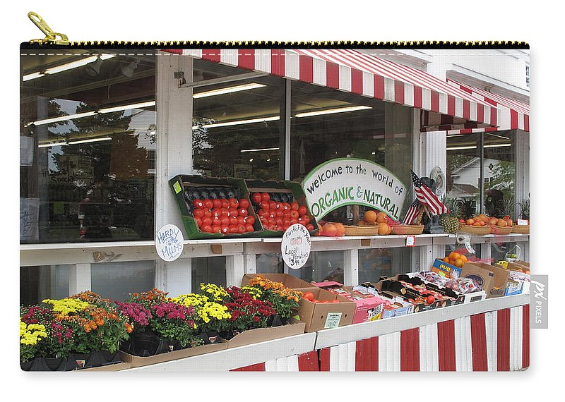 Produce Carry-all Pouch featuring the photograph Organic And Natural by Barbara McDevitt