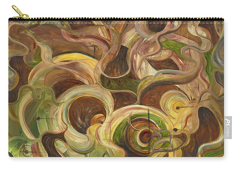 Organic Carry-all Pouch featuring the painting Organic Life by Nadine Rippelmeyer