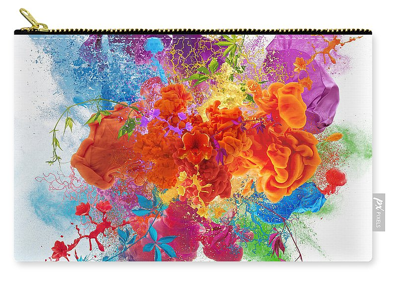 Material Carry-all Pouch featuring the digital art Orgasm by Vizerskaya