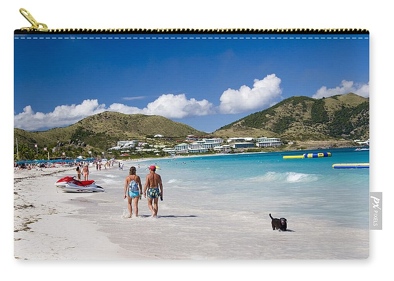 St Martin Carry-all Pouch featuring the photograph Orient Beach In St Martin Fwi by David Smith
