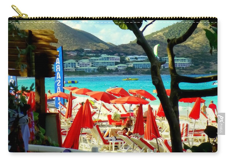 Beaches Carry-all Pouch featuring the photograph Orient Beach Peek by Karen Wiles