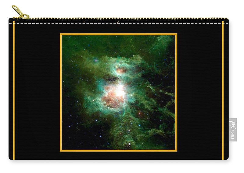 Orion Nebula Carry-all Pouch featuring the photograph Orion Nebula All Powers Of The Lord Bless The Lord Praise And Exalt Him Above All Forever by Rose Santuci-Sofranko