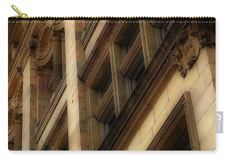 Toronto Carry-all Pouch featuring the photograph Ornate Facade by Andrew Fare