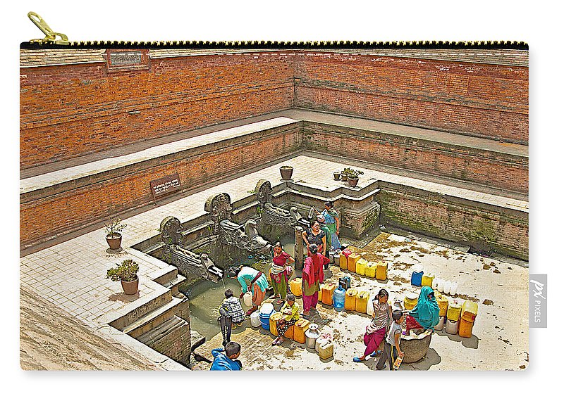 Ornate Fountains With Holy Water From The Bagmati River In Patan Durbar  Square In Lalitpur-nepal Carry-all Pouch