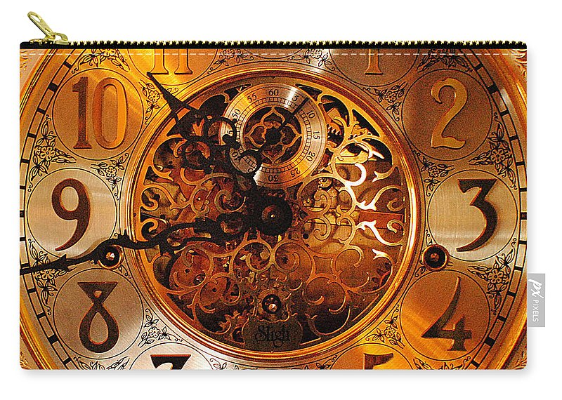 Ornate Carry-all Pouch featuring the photograph Ornate Timekeeper by Frozen in Time Fine Art Photography