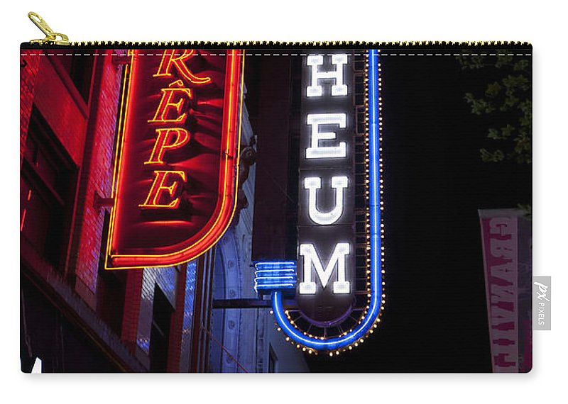 Travel Carry-all Pouch featuring the photograph Orpheum And Cafe Crepe by Jason O Watson
