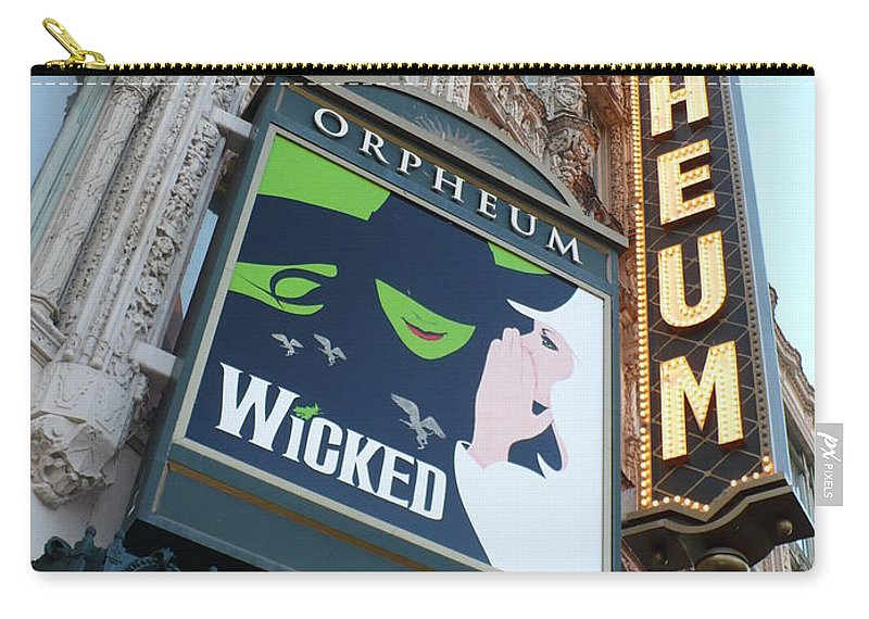 City Carry-all Pouch featuring the photograph Orpheum Sign by Carol Groenen
