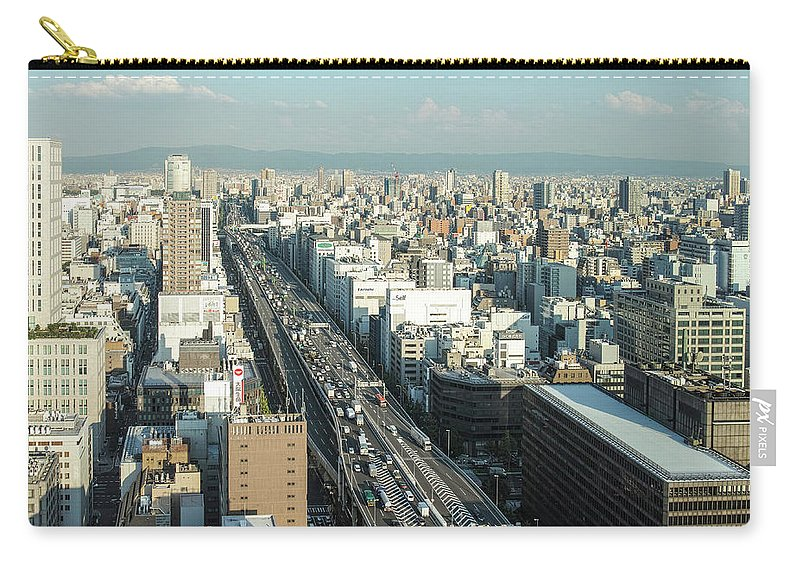 Osaka Prefecture Carry-all Pouch featuring the photograph Osaka Cityscape by I Love Photo And Apple.