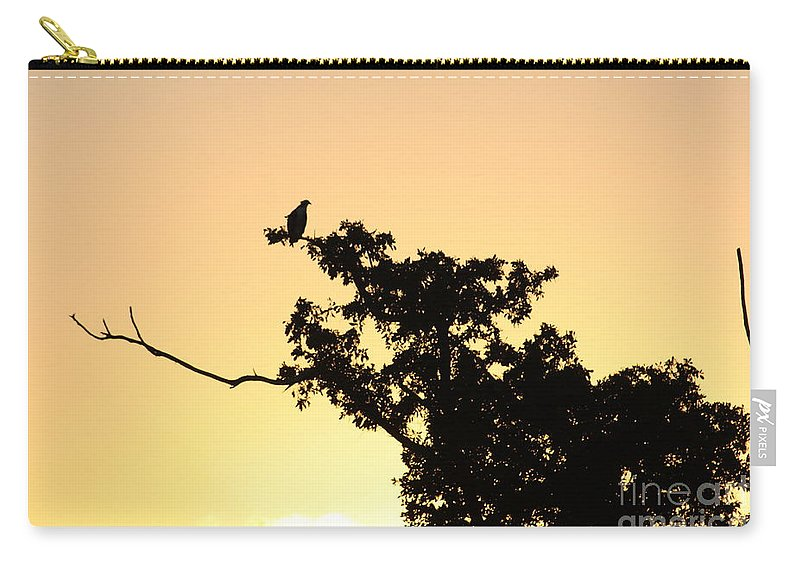 Osprey Carry-all Pouch featuring the photograph Osprey Sunset by Chuck Hicks