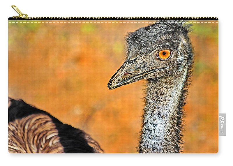 #ostrich Carry-all Pouch featuring the photograph Ostrich Girl With Attitude by Miroslava Jurcik