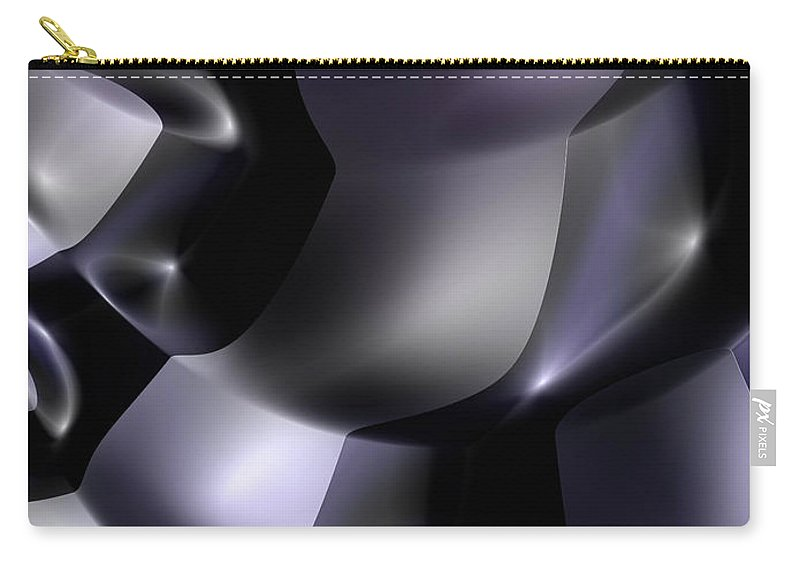 science Fiction Abstract fractal Art geometric Art girl's Fashion women's Fashion Cosmetics fashion Design Fashion Carry-all Pouch featuring the photograph Other Worlds 04 by Bill Owen