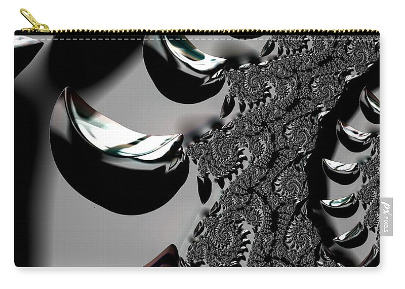 Chrome abstract Art fractal Design girl's Fashion women's Fashion Fashion fashion Design abstract Chrome Carry-all Pouch featuring the photograph Other Worlds 06 by Bill Owen