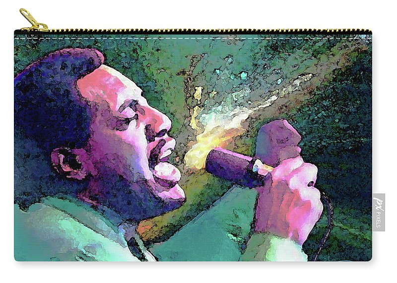 Otis Redding Carry-all Pouch featuring the painting Otis Redding by John Travisano