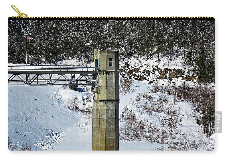 Otter Brook Dam Carry-all Pouch featuring the photograph Otter Brook Dam by MTBobbins Photography