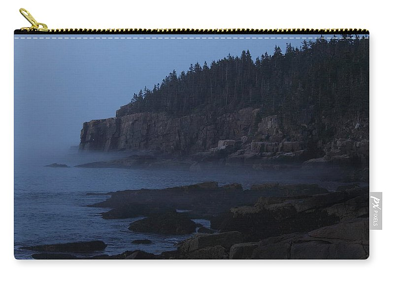 Otter Cliffs Carry-all Pouch featuring the photograph Otter Cliffs 3 by Jeff Heimlich