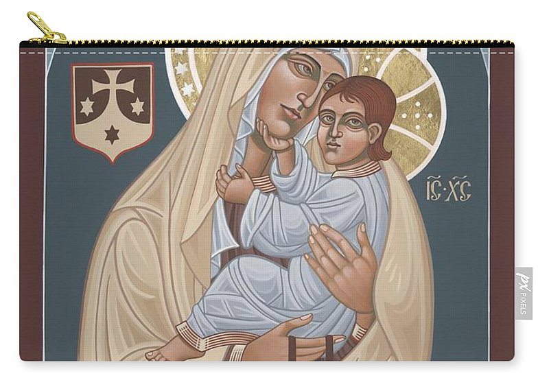 Our Lady Of Mt. Carmel Was Commissioned By The Church Of Mt. Carmel In Brooklyn Carry-all Pouch featuring the painting Our Lady Of Mt. Carmel 255 by William Hart McNichols
