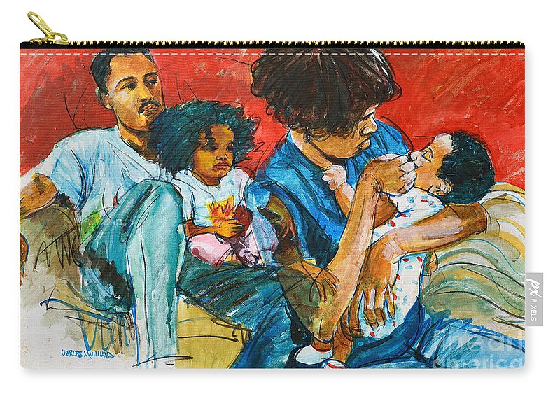 Child Carry-all Pouch featuring the painting Our Love by Charles M Williams