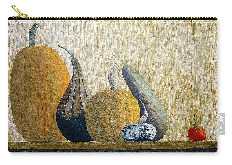 Pumpkin Carry-all Pouch featuring the painting Out Cast by A Robert Malcom