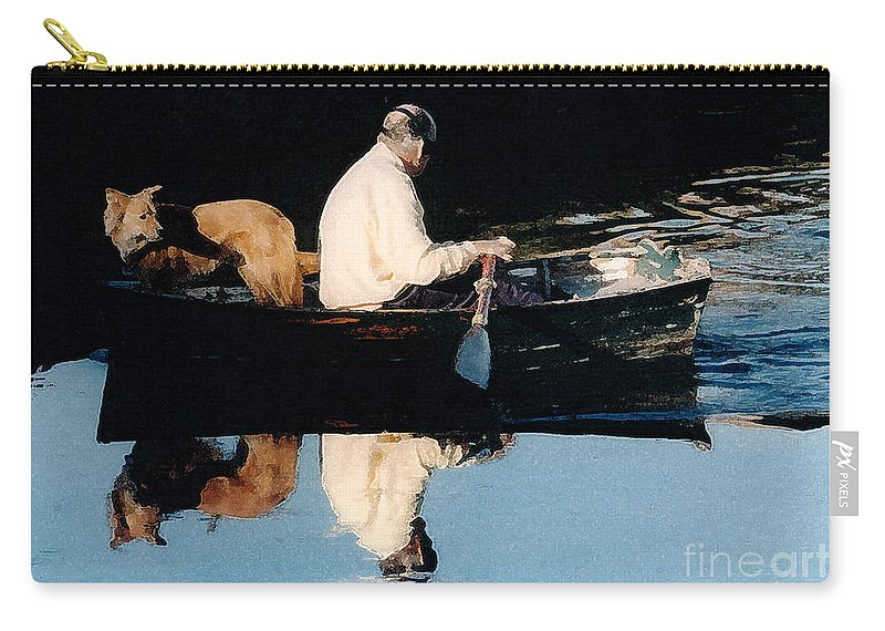 Susan Carry-all Pouch featuring the photograph Out For A Boat Ride by Susan Crossman Buscho