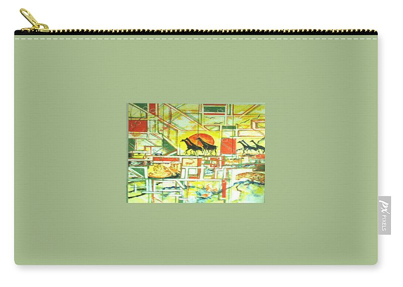 Africa Carry-all Pouch featuring the painting Out Of Africa by Lord Frederick Lyle Morris - Disabled Veteran