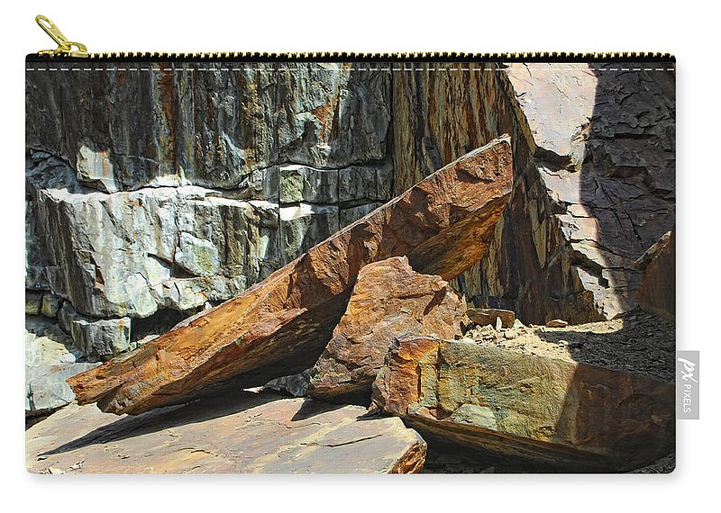 Rock Carry-all Pouch featuring the photograph Out Of Balance by Donna Blackhall