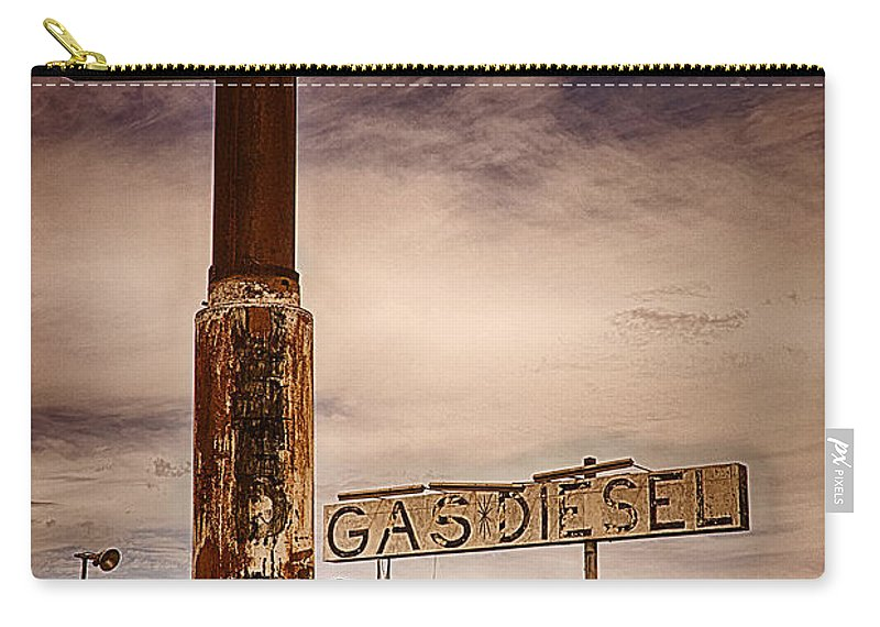 Texaco Carry-all Pouch featuring the photograph Out Of Gas by Priscilla Burgers