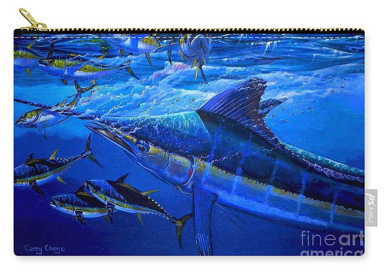 Marlin Carry-all Pouch featuring the painting Out Of The Blue by Carey Chen