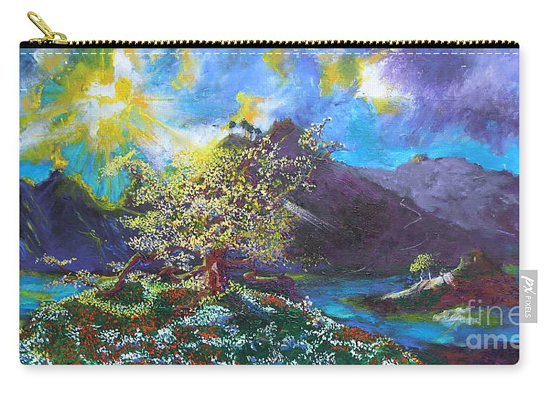 Landscape Carry-all Pouch featuring the painting Out Of The Blue by Stefan Duncan