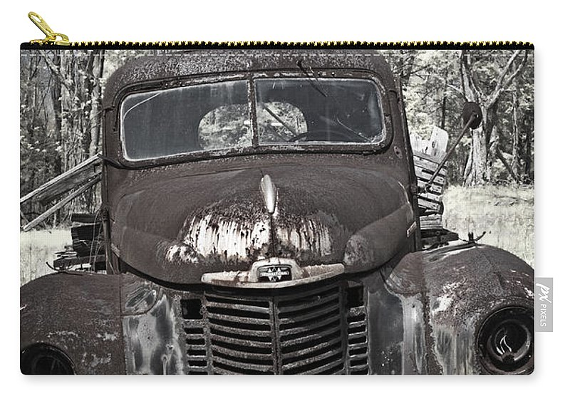 Rusty Carry-all Pouch featuring the photograph Out To Pasture by John Stephens