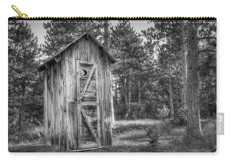 Outhouse Carry-all Pouch featuring the photograph Outdoor Plumbing by Scott Norris