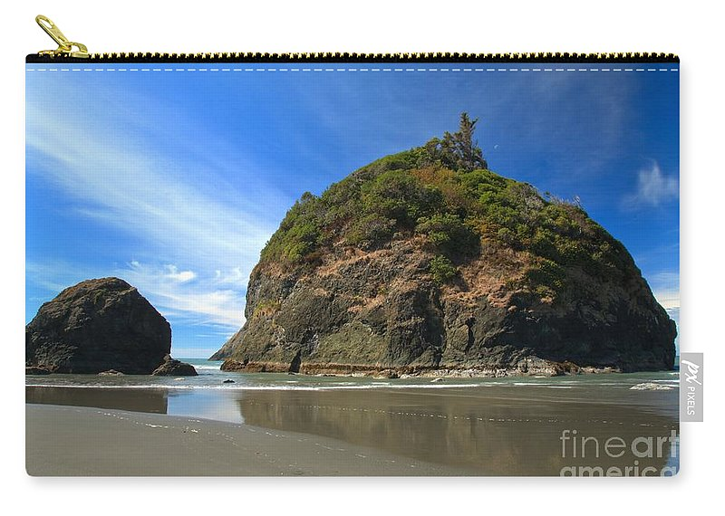 Trinidad California Carry-all Pouch featuring the photograph Outgoing Trinidad Tide by Adam Jewell