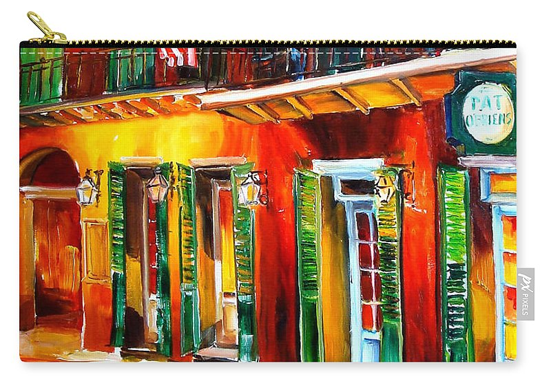 New Orleans Carry-all Pouch featuring the painting Outside Pat O'brien's Bar by Diane Millsap