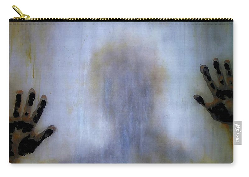 Original Art Carry-all Pouch featuring the painting Outsider by Lilia D