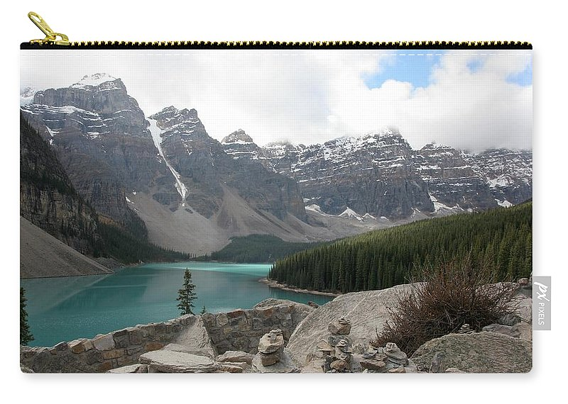 Lake Carry-all Pouch featuring the photograph Moraine Lake Lookout - Lake Louise, Alberta by Ian Mcadie