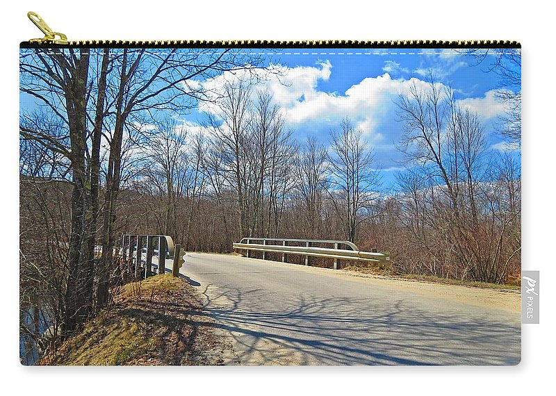 Bridge Carry-all Pouch featuring the photograph Over The Brook by MTBobbins Photography