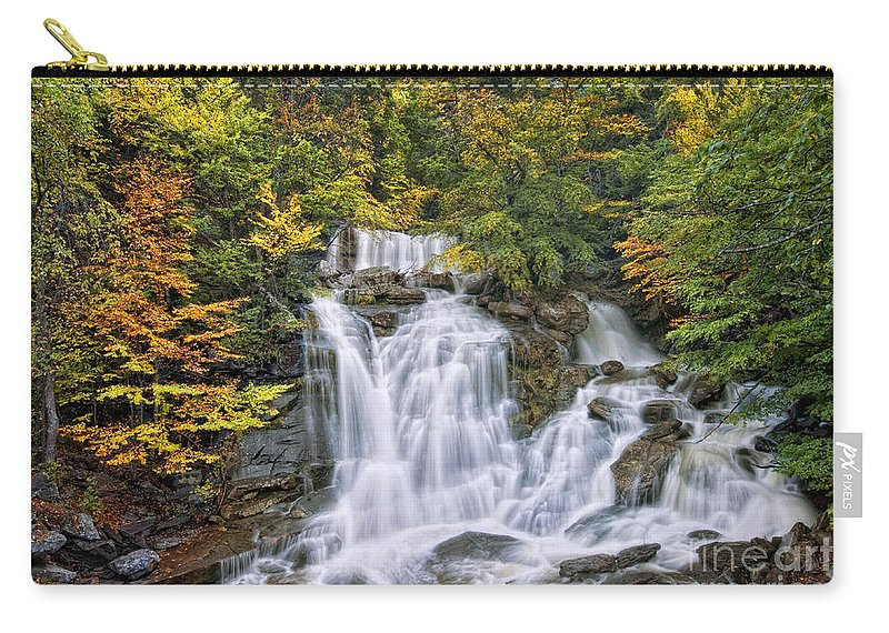 Kaaterskill Falls Carry-all Pouch featuring the photograph Over The Rocks by Claudia Kuhn