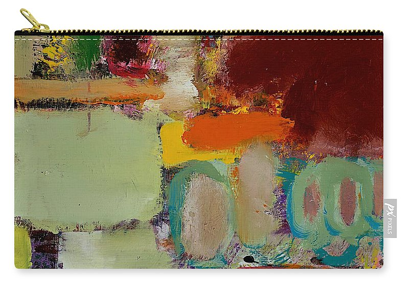 Landscape Carry-all Pouch featuring the painting Over There by Allan P Friedlander