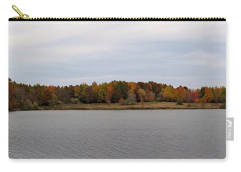 Fall Carry-all Pouch featuring the photograph Over View Of Some Fall Colors For The Lake by Eric Noa