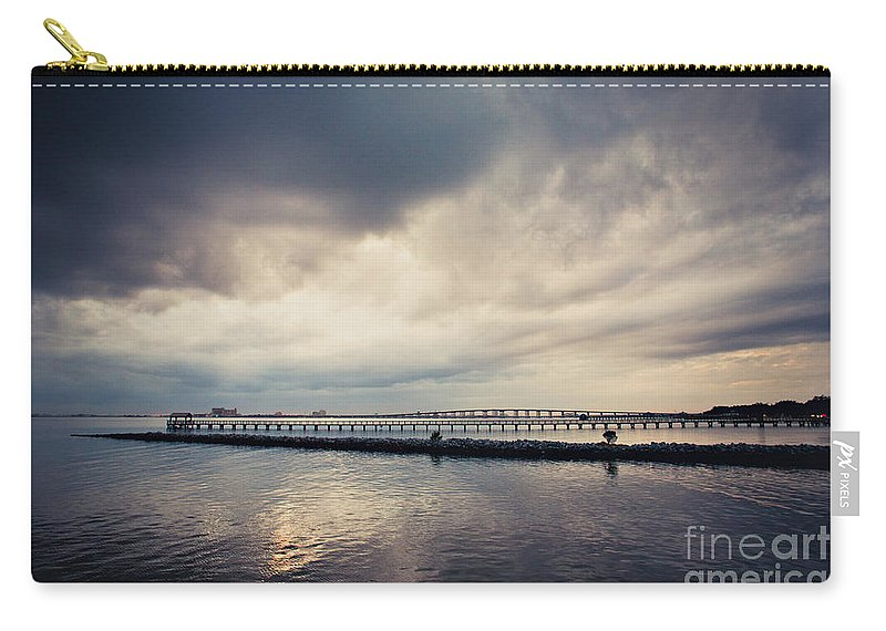 Clouds Carry-all Pouch featuring the photograph Overcast by Joan McCool
