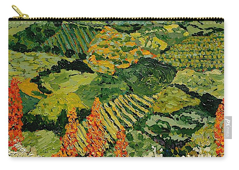 Landscape Carry-all Pouch featuring the painting Overgrown by Allan P Friedlander