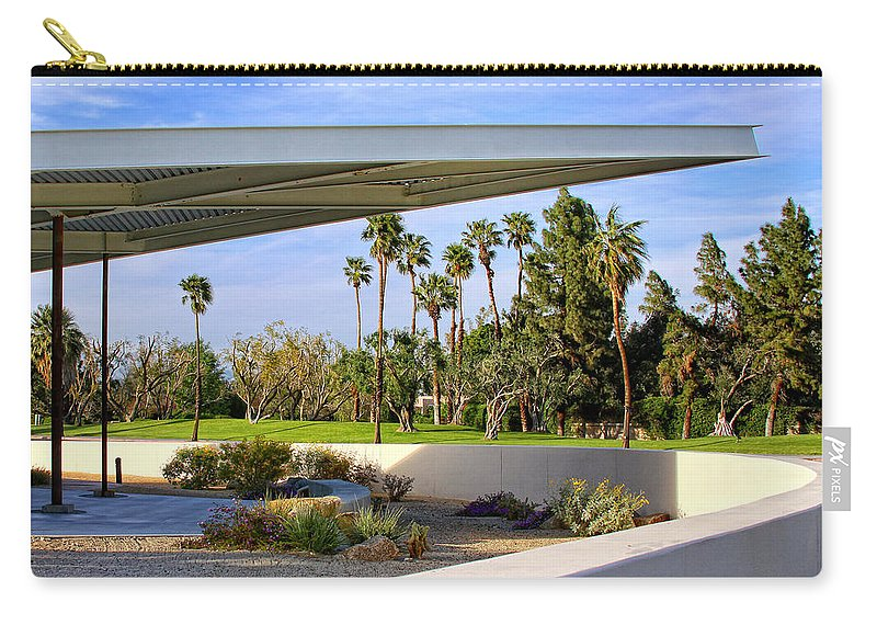 Palm Springs Carry-all Pouch featuring the photograph OVERHANG Palm Springs Tram Station by William Dey