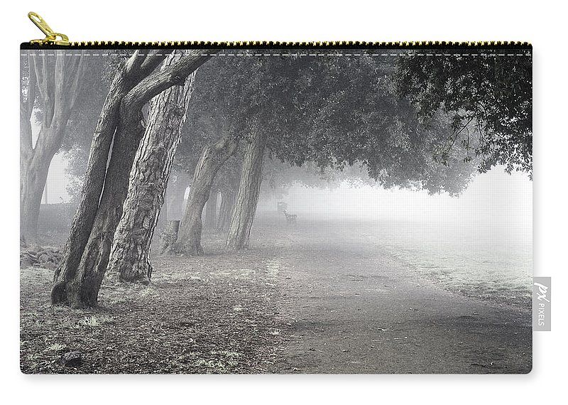Uk Carry-all Pouch featuring the photograph Overhanging Trees by Christopher Rees