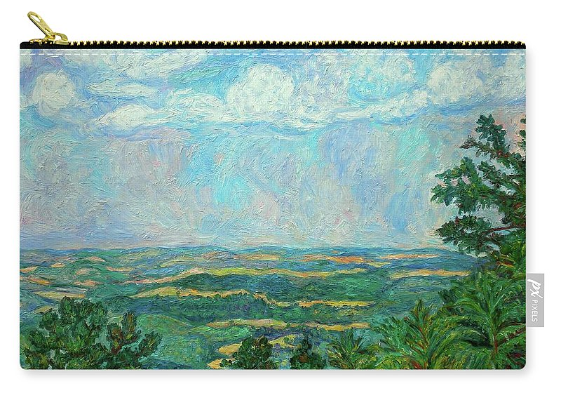 Kendall Kessler Carry-all Pouch featuring the painting Overlook Near Peaks Of Otter by Kendall Kessler