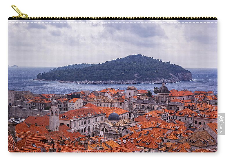 Dubrovnik Carry-all Pouch featuring the photograph Overlooking Dubrovnik by Madeline Ellis