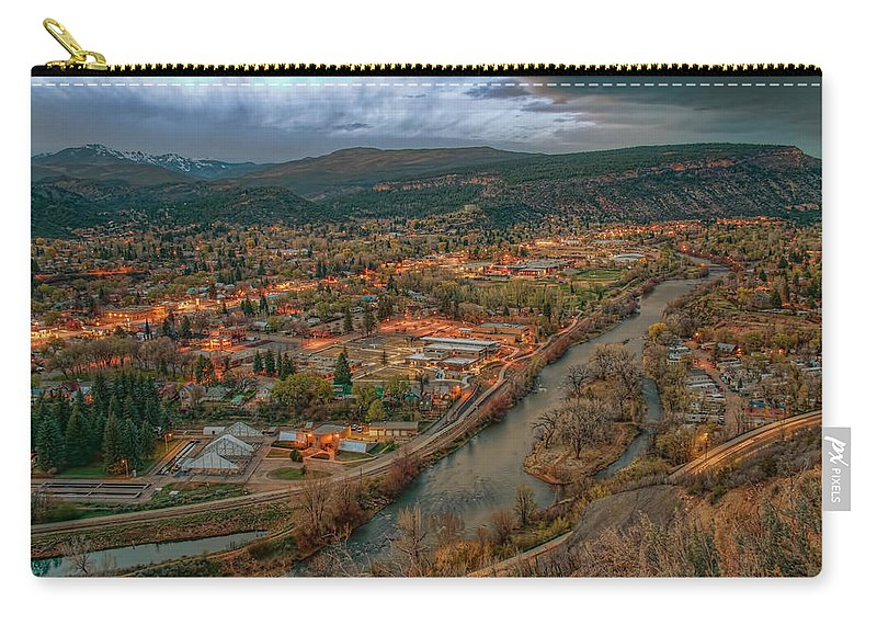 Colorado Carry-all Pouch featuring the photograph Overlooking Durango by Tom Weisbrook