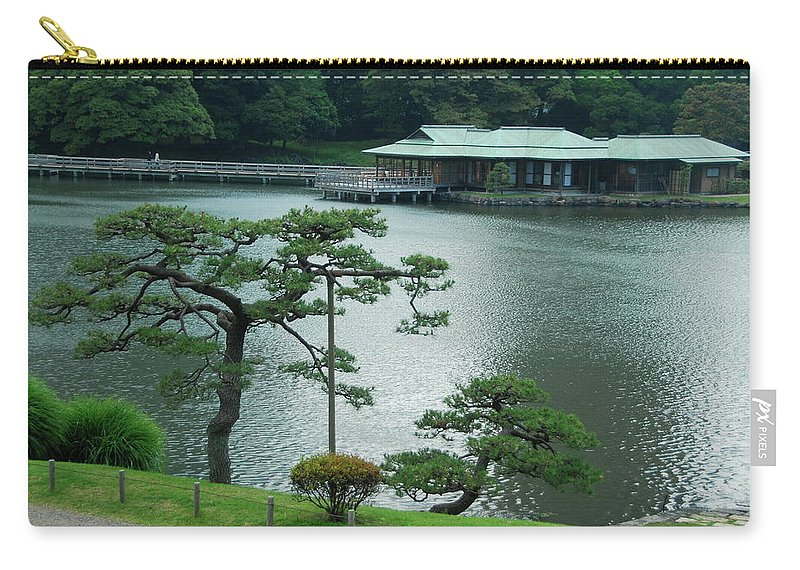 Japanese Carry-all Pouch featuring the photograph Overlooking The Tea House by Jonah Anderson
