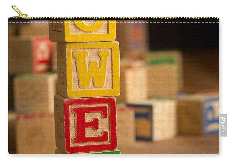 Alphabet Carry-all Pouch featuring the photograph Owen - Alphabet Blocks by Edward Fielding