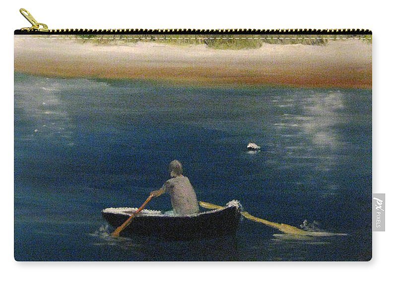 Martha's Vineyard Carry-all Pouch featuring the painting Owen Park by Nick Robinson