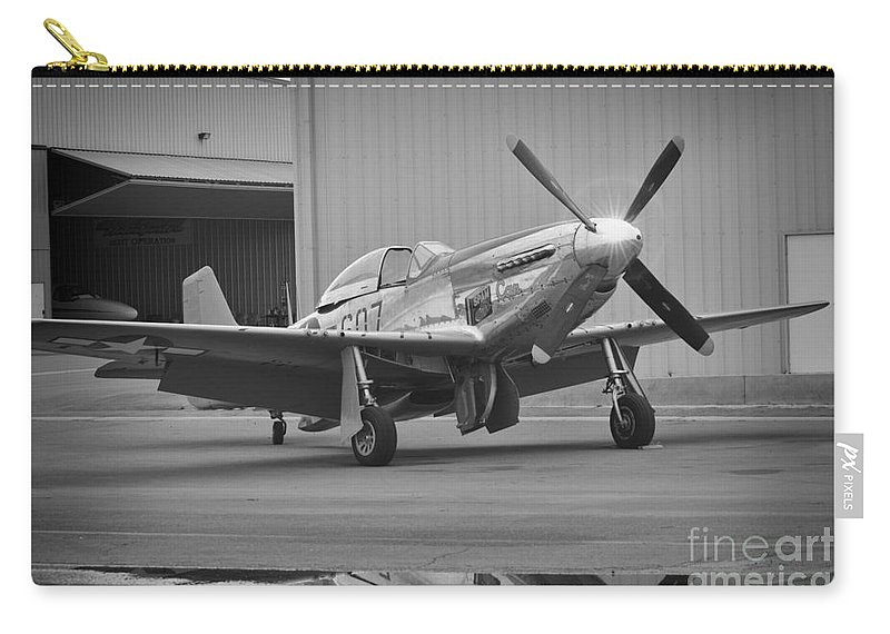 Fighter Pilots Carry-all Pouch featuring the photograph P-51d Spam Can by Tommy Anderson