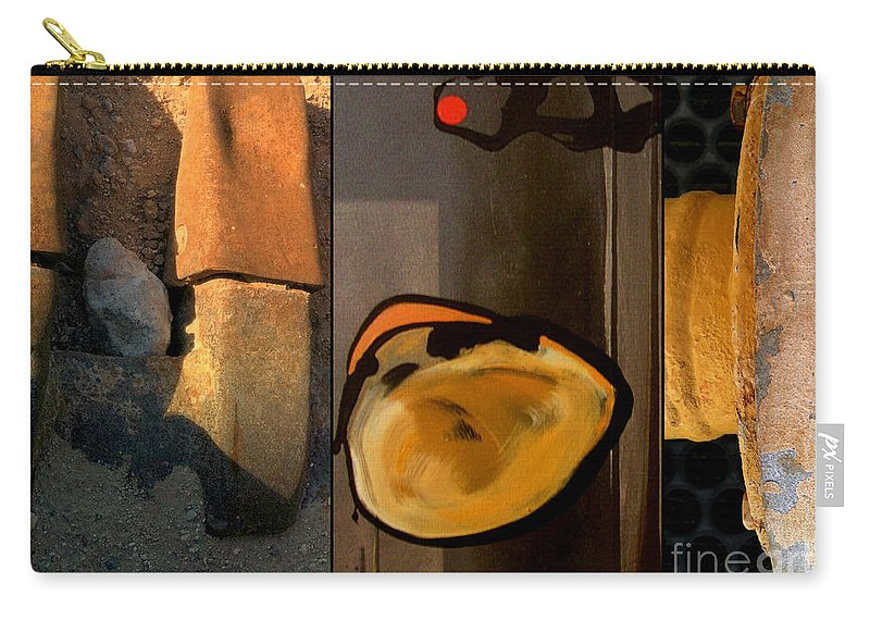 Abstract Carry-all Pouch featuring the painting p HOTography 140 by Marlene Burns